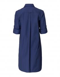 Finley - Alex Navy Silky Poplin Shirt Dress
