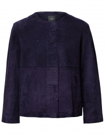 Educata Navy Suede Jacket