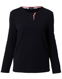 Annemasse Navy Toggle Sweater