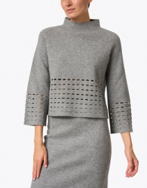 TSE Cashmere - Heather Grey Felted Wool Cashmere Sweater