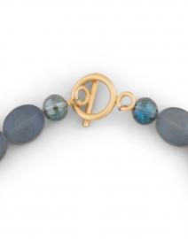 Deborah Grivas - Matte Navy Crystal and Gold Chain Necklace