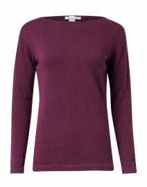 Bordeaux Pima Cotton Boatneck Sweater