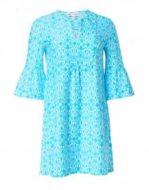 Kerry Aqua Diamond Ikat Print Dress