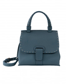 Orleans Mini Dark Turquoise Pebbled Leather Handbag