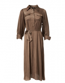 Reynolds Bronze Satin Shirt Dress