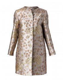 Gold Embroidered Long Topper Jacket