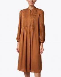 Lafayette 148 New York - Layla Bourbon Orange Pleated Satin Dress
