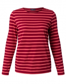 Saint James - Minquidame Red and Coral Striped Cotton Top