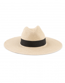 Classic Continental Natural and Black Sunhat