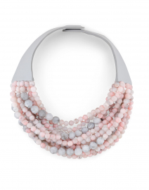 Marcella Rose Quartz and Grey Necklace
