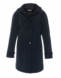 Navy 3-in-1 Cashmere Raincoat