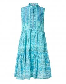Turquoise Floral Block Print Dress