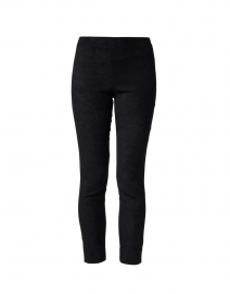 Lori Black Stretch Faux Suede Pull On Pant