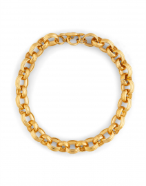 Gold Two Texture Chain Link Necklace