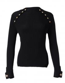 Black Slim Knit Top