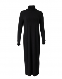 Black Fine Stretch Jersey Knit Dress