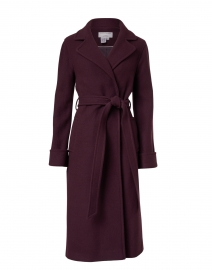 Burgundy Cashmere Wool Wrap Coat