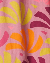 Warm - Leila Pink and Orange Petal Printed Cotton Dress
