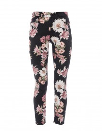 Navy Night Garden Print Stretch Cotton Jean