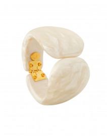 Juliette Pearl Resin Hinge Bracelet