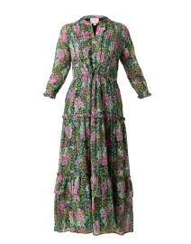 Brenda Green and Pink Floral Cotton Dress