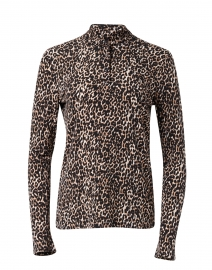 Leopard Printed Stretch Sweater