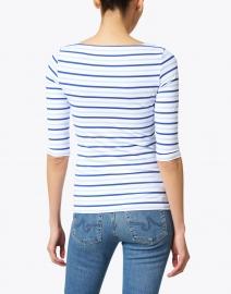 Saint James - Garde Cote White and Gitane Blue Striped Jersey Top