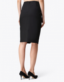 Ecru - Black Faux Wrap Skirt