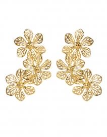 Adela Gold Three Flower Drop Earrings