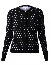 Satire Black and White Polka Dot Cardigan