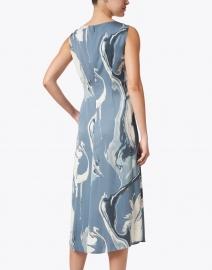 Lafayette 148 New York - Anita Blue and White Geode Print Dress
