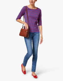Saint James - Garde Cote Blue and Red Striped Jersey Top