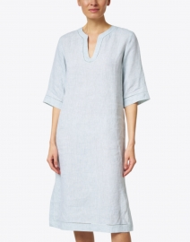 Lafayette 148 New York - Ellery Light Blue Linen Dress