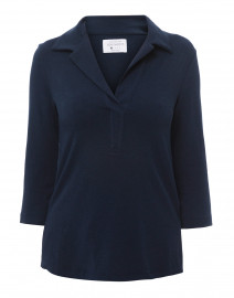Navy Henley Bamboo-Cotton Top