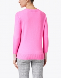 Kinross - Rosette Pink with Birch Grey Cashmere Sweater
