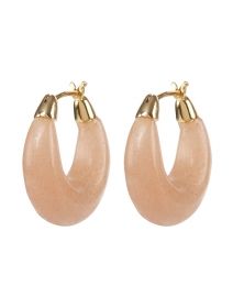 Dorthea Light Blush Stone Hoop Earring