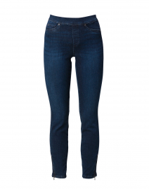Philia Dark Blue Denim Cotton Stretch Pull On Pant