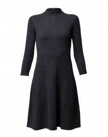 Charcoal Grey Cashmere Sweater Dress