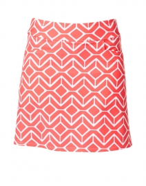 Sonia Red and White Geometric Printed Skort