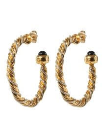 Gold and Silver Intertwined Hoop Earrings