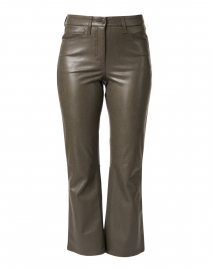 Ray Olive Stretch Vegan Leather Flare Pant