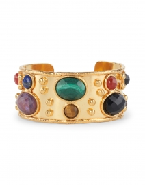 Faceted Byzance Multi Stoned Cuff Bracelet