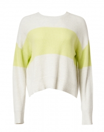 Bold Move Light Grey and Citron Cotton Pullover Sweater