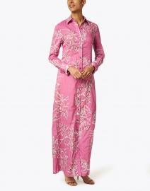 Ala von Auersperg - Kathe Watermelon Lily Cotton Viole Shirt Dress
