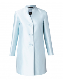 Light Blue Cotton and Silk Topper Jacket