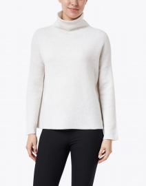 Vince - White Wool and Cashmere Funnel Neck Sweater