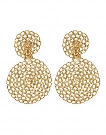 Onde Gourmette Gold Drop Clip-On Earrings