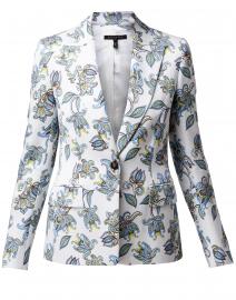 Brikenati Floral One Button Blazer Jacket