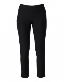 Black Stretch Crepe Essential Slim Ankle Pant