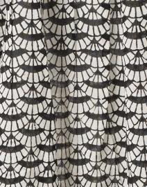 Ro's Garden - Seychelles Black and White Fan Printed Cotton Tunic Dress